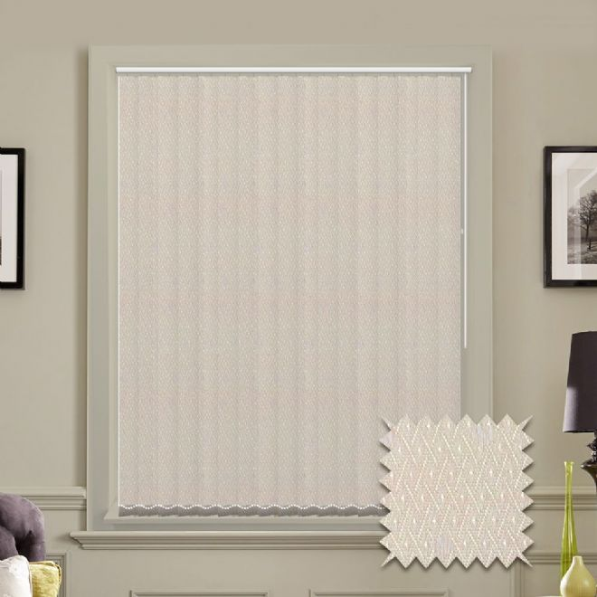 Vertical blinds - Made to Measure vertical blind in Java Cream - Just Blinds